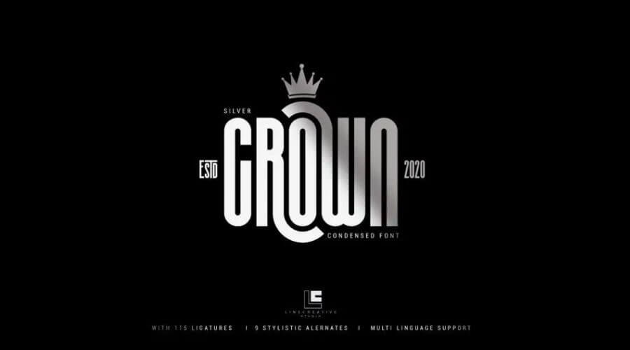 Silver Crown Display Font Free Download